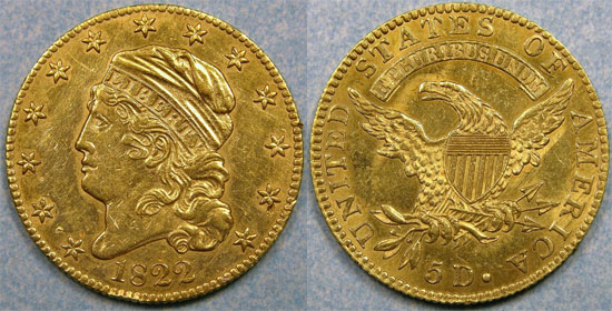 1822 Half Eagle